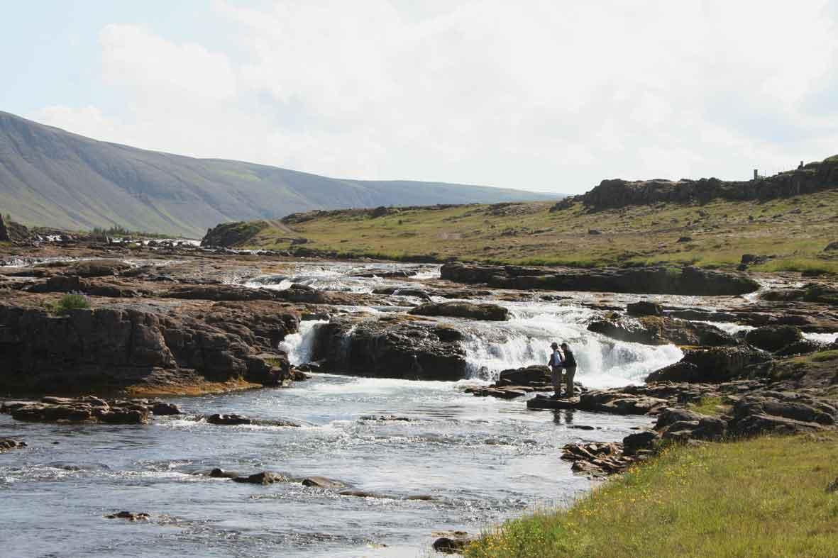 Angler am Lachfluss