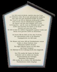 Informationstafel zur Kirche in Zaue