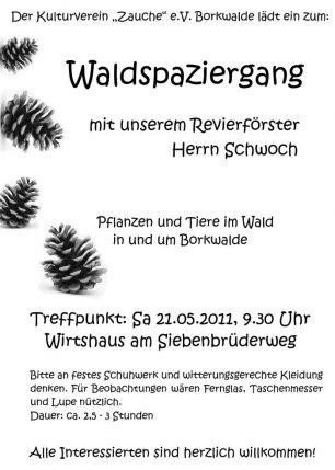 Flyer zum Waldspaziergang mit Förster