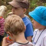 Junge Naturforscher im Wald