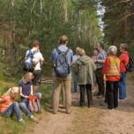 Erklärungen des Försters im Wald