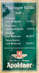 Hauptgericht Klöße - Kulinarisches Weimar