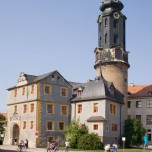 Blick auf Schloss Weimar