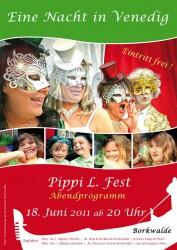 Plakat zum Sommerfest in Borkwalde