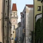 Blick zum Rathaus von Passau