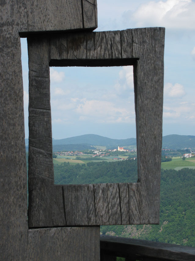 Durchblick - Schöne Aussicht vom Donausteig