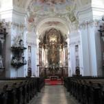 Blick in die Kirche von Stift Engelszell