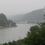 Blick auf die Donau in Aschach