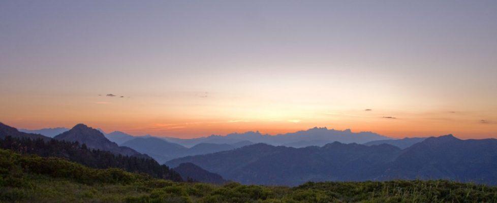 Sonnenaufgang über dem Großarltal