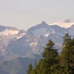 Berge und Schnee in den Alpen bei Großarl