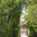 Blick auf das Weimarer Stadtschloss von der Leibnizallee