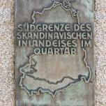 Südgrenze des Skandinavischen Inlandeises im Quartär