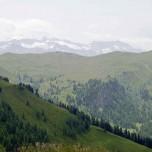 Fernsicht in den Alpen