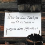 Warnung vor den Haflinger