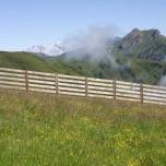 Wolkenrest in der Bergwelt der Alpen