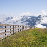 Zaun hoch oben in den Bergen