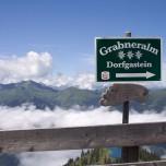 Wegweiser Grabneralm und Dorfgastein