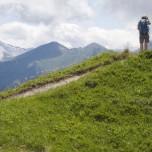 Ausguck in die Bergwelt der Alpen zwischen Großarl und Dorfgastein