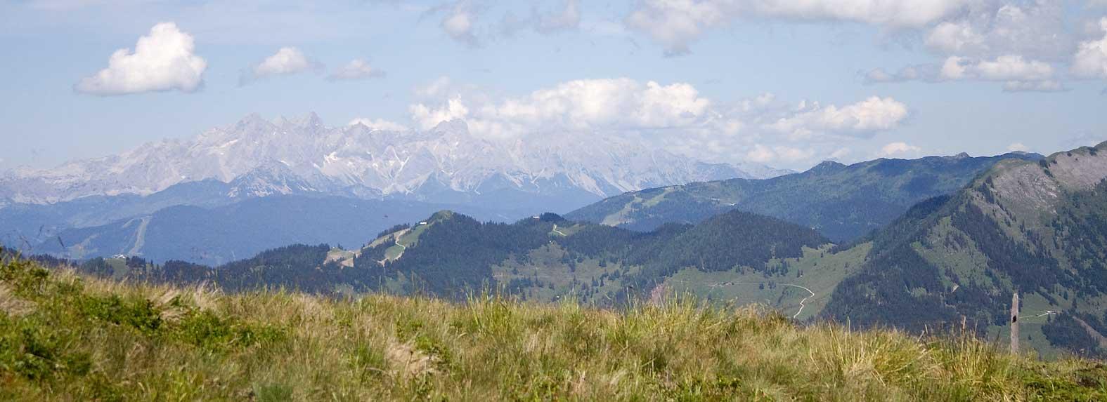Panorama der Alpen bei Großarl