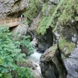 Holzsteg in der Liechtensteinklamm