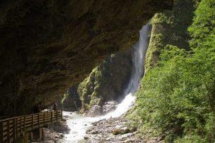 Schleierfall am Ende der Liechtensteinklamm