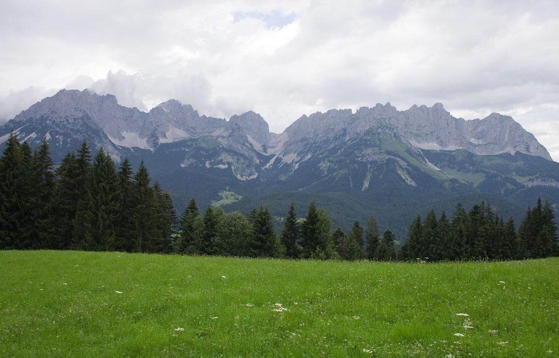 Blick vom Astberg zum Wilden Kaiser