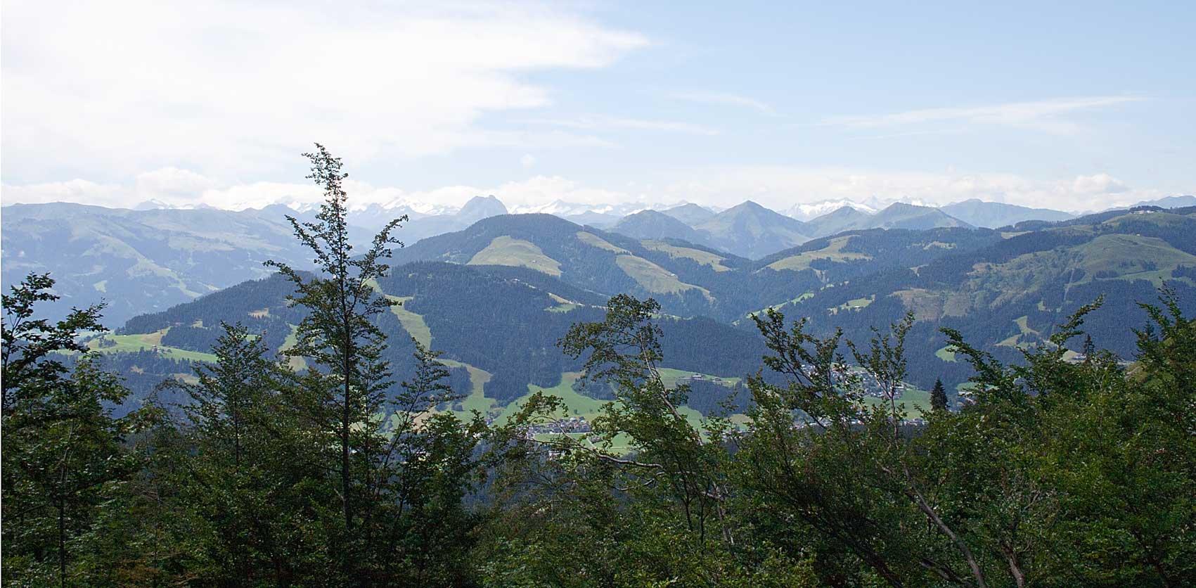 Blick vom Wilden Kaiser auf die Alpen