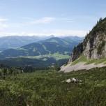 Blick zurück auf die Alpen