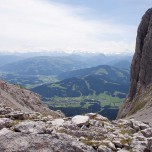Blick auf Ellmau und die Alpen