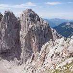 Wilder Kaiser: Schroffe Felsen über dem Ellmauer Tor
