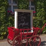"""Werbung für die Gaststätte """"Zur Alten Brauerei"""" in Beelitz"""