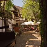 """Zur Alten Brauerei"" in Beelitz - Blick in den Innenhof"