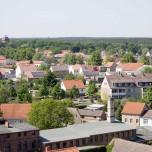 Blick vom Kirchturm der Stadtpfarrkirche in Beelitz