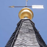 Spitze der Stadtpfarrkirche in Beelitz