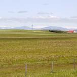 Blick auf Gletscher in Island