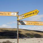 Wegweiser nach Landmannalaugar