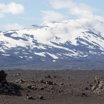 Panorama mit Vulkan Hekla auf Island