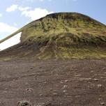 Grüner Berg in Island