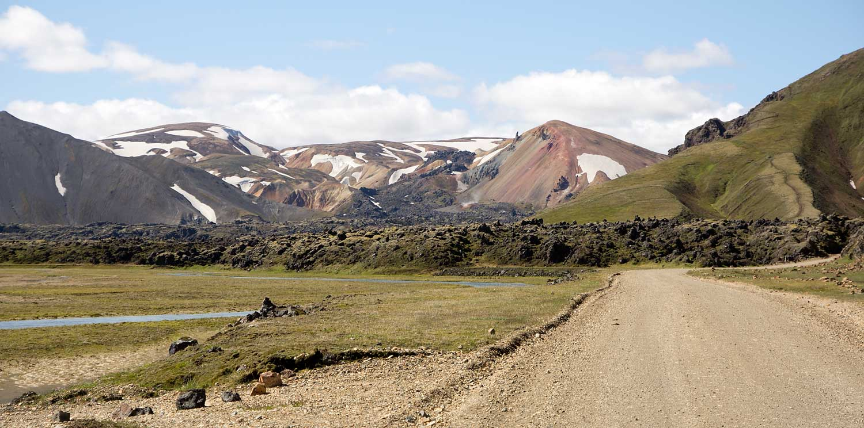 Landmannalaugar in Sicht