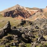 Farbige Berge bei Landmannalaugar