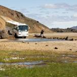 Bus furtet vor Landmannalaugar