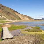 Kleine Holzbrücke bei Landmannalaugar