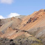 Bunter Hang in Landmannalaugar, Island