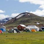 Campingplatz in Landmannalaugar