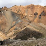 Bunte Berge in Landmannalaugar, Island