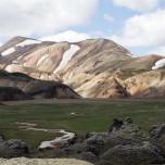 Panorama der Bergwelt im Gebiet des Torfajökull