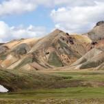 Bunte Berge im Gebiet des Torfajökull