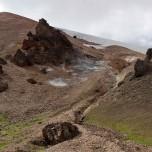 Auf dem Wanderweg Laugavegur zum Brennenden Berg Brennisteinsalda