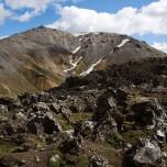 Der Geröllberg und Vulkan Bláhnúkur