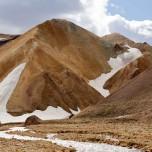 Roter Berg im Gebiet des Torfajökull